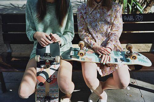 skates, shirt and sweater