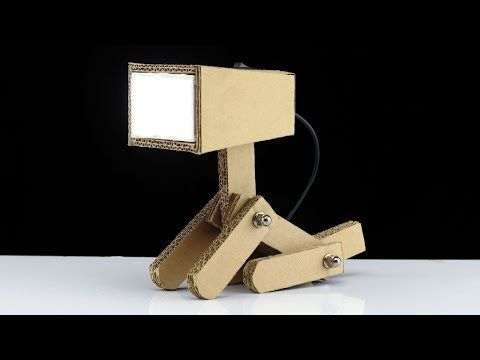 How To Make Usb Powered Cardboard Study Table Lamp Study Table Lamp Study Table Study Lamps