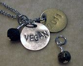 VEGAN or RAW Necklace with Date