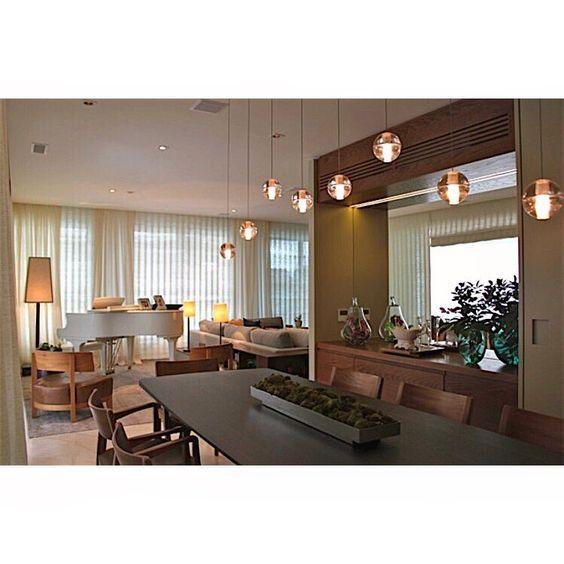 """Sala by @vaianorossetto_arquitetura #poliform #micasa #aristeupires #vermeil #interni #bocci"""
