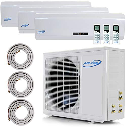3 Zone Mini Split 12000 12000 12000 Ductless Air Conditioner Pre Charged Tri Zone Mini Split Includes Three 25 Linesets Premium Quality Usa Par Ductless Air Conditioner Ductless Ductless Mini Split