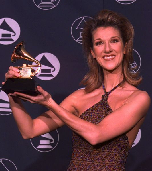Celine Dion cleaned up at the 1997 Grammys, taking home two awards ...