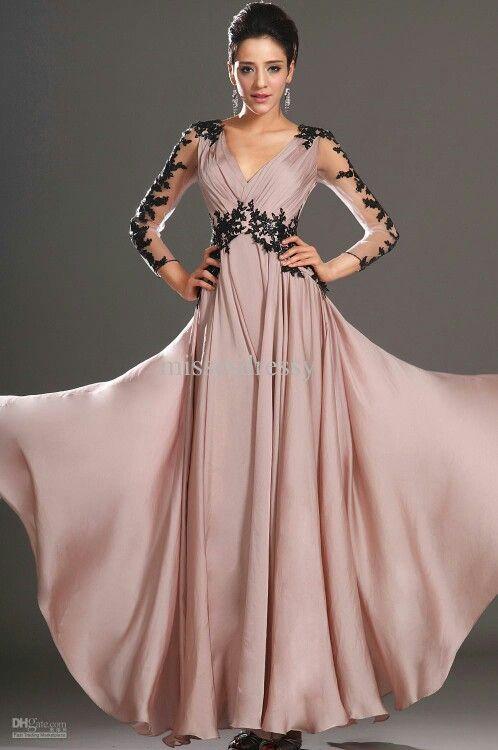 Dusty-pink & black dress cutesy