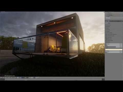 1) Blender 2.8 Eevee Archviz scene YouTube   Blender