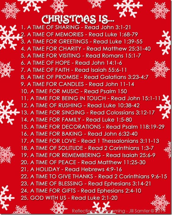 Scripture readings for Christmas