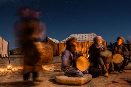 Drumming Circle Under the Stars.... Photo by Anna Hally - 2015 Traveler Photo Contest