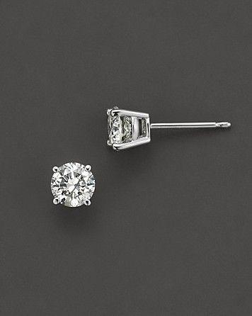 Certified Diamond Stud Earrings in 14k White Gold, 3.0 ct. t.w.   Bloomingdale's