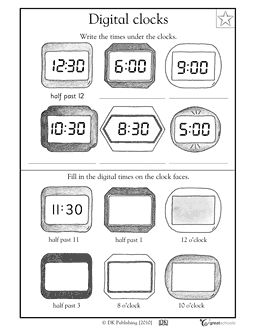 Printables Digital Clock Worksheets printables digital clock worksheets safarmediapps clocks and on pinterest