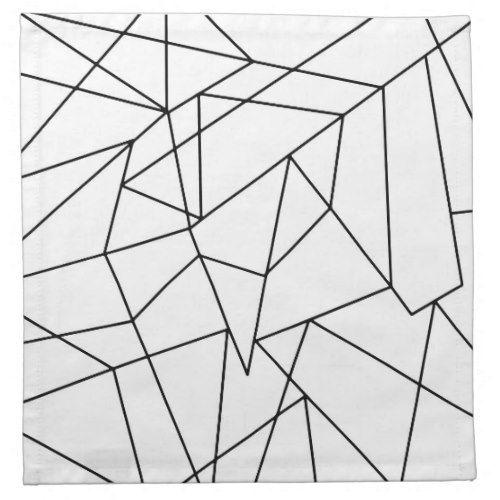 Simple Modern Black And White Geometric Pattern Napkin Zazzle Com Patterned Napkins Geometric Pattern Geometric