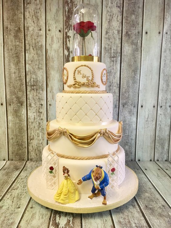 Beauty and the Beast inspired wedding cake | Unique Wedding Cakes You Will Fall In Love With! | wedding cake | indian wedding cake | wedding cake ideas | designer wedding cake | Wedding cakes for Indian couples | beautiful wedding cakes | Function Mania