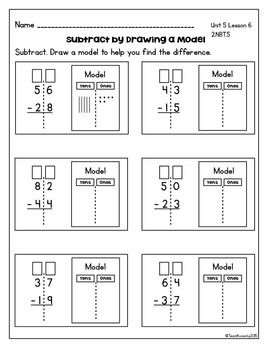 Double Digit Subtraction Daily Math Lessons Unit 5 Common Core Math Worksheets Math Subtraction Math Lessons