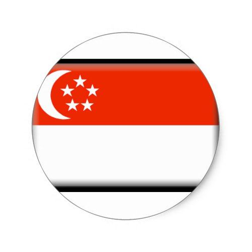 Singapore Flag Classic Round Sticker Zazzle Com Singapore Flag Custom Stickers Round Stickers