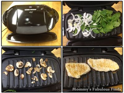 Smothered chicken george foreman grill and the o 39 jays on for George foreman grill fish