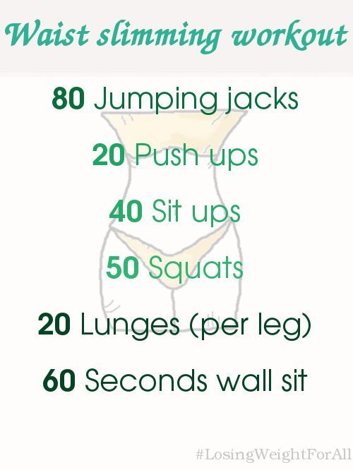 how to lose weight waist exercises