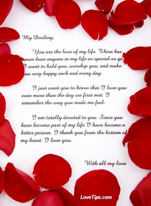40 Romantic Love Letters For Her Love Letter Sample Romantic