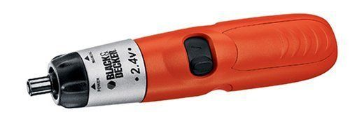 Black & Decker 9072CTN Cordless Screwdriver. Spindle lock for manual use if desired and for greater control when starting and finishing screws. Forward/Reverse slide switch for easy screwdriving and screw removal. Planetary gearing delivers 20 pounds of torque and 150 RPM. Narrow nose piece for extended reach in tight places. Jam pot construction for added durability.