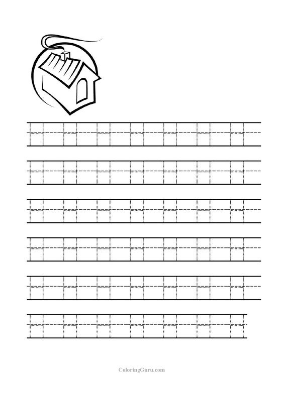 Free Printable Tracing letter H worksheets for preschool ...
