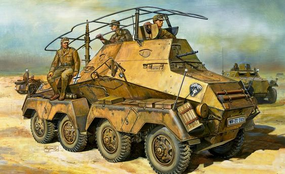 PSW 232 Command Armored Car in North africa.