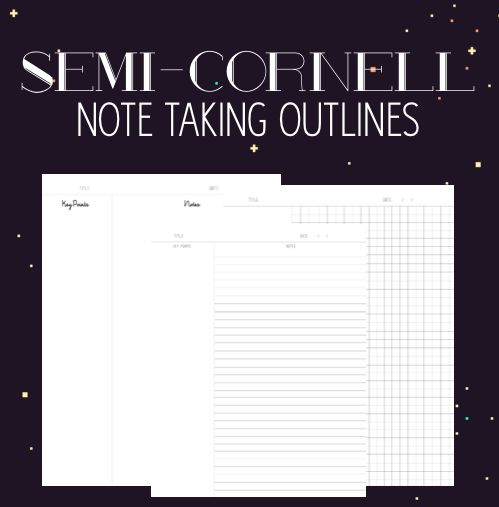 Digital Cornell Note Pages for taking notes on your iPad Future - cornell note template