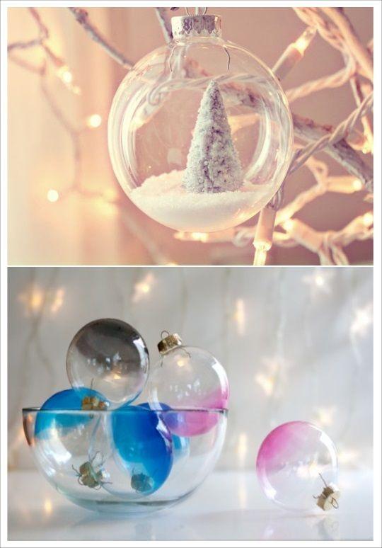 Boule De Noel Transparente A Remplir diy boule de noel verre transparente a garnir | Boule de noel
