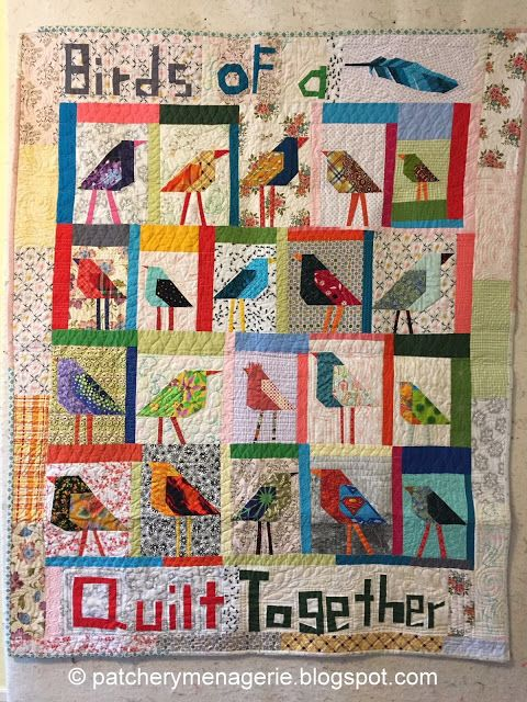 The Patchery Menagerie: Student Bird Quilts