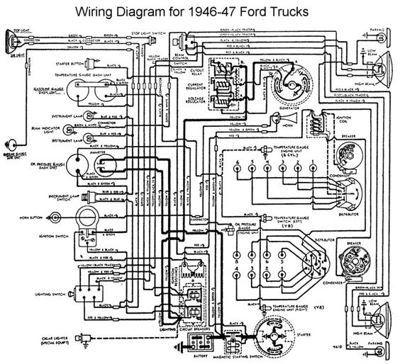 wiring for 1946 to 47 ford trucks old trucks horns wiring for 1946 to 47 ford trucks