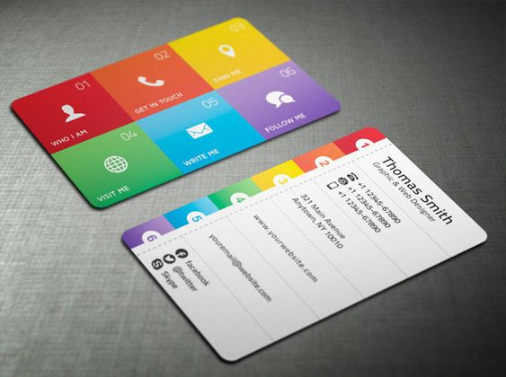 cool graphic design business cards Google Search