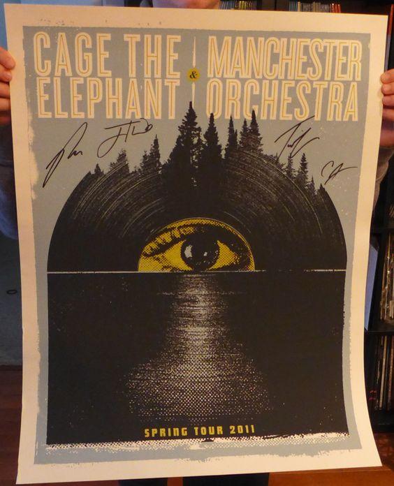 Lazy Labrador Records - Manchester Orchestra Cage The Elephant Spring Tour 2011 · Silkscreen Poster · Signed, $109.99 (http://lazylabradorrecords.com/manchester-orchestra-cage-the-elephant-spring-tour-2011-silkscreen-poster-signed/)