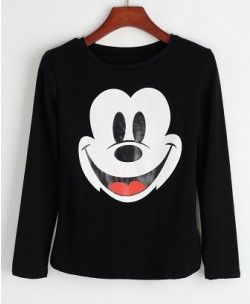 Saucy Mickey Print Cotton T-shirt - Clothing