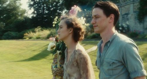 Keira Knightley (Cecilia Tallis) & James McAvoy (Robbie Turner) - Atonement (2007) #ianmcewan #joewright: