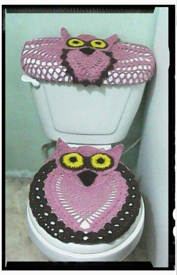 B ho 1 crochet for the home pinterest for Set de bano tejidos