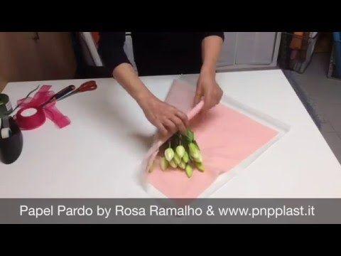 Gift wrapping-- Embrulho de uma planta - YouTube