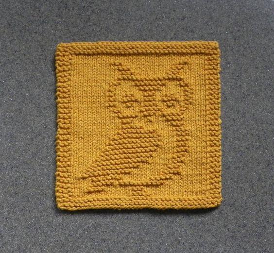 Knit dishcloth, Dishcloth and Owl on Pinterest
