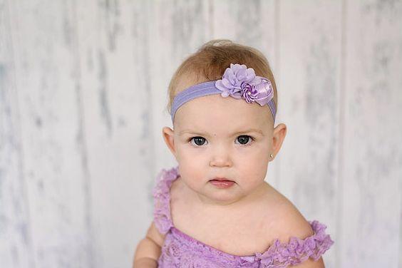 Lavender Baby Headband  flower headband by BabyBloomzBoutique, $7.95