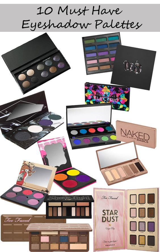 Phyrra shares the 10 best eyeshadow palettes right now! From the Urban Decay Spectrum Palette to the Too Faced Stardust Palette, these are gorgeous and help round out any collection.