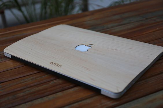 handmade real wood macbook skin covers shipping worldwide from usa