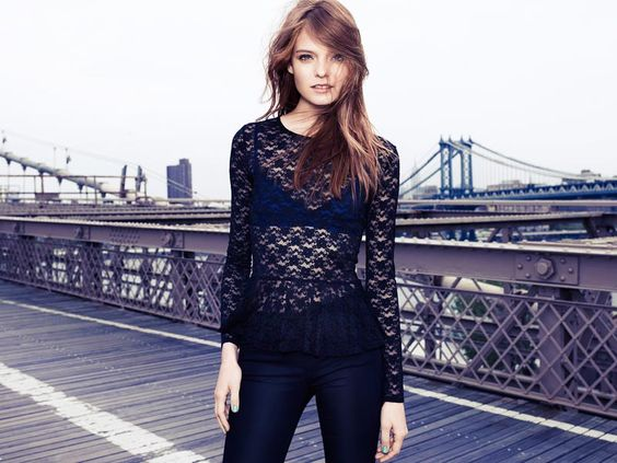 Nimue Smit Poses on the Brooklyn Bridge in New Images for H Divided
