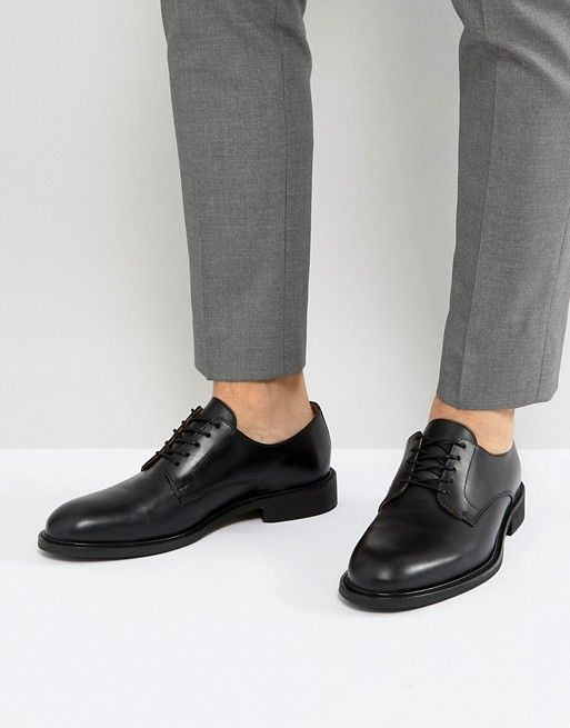 closer at factory outlet super popular Selected Homme leather derby shoes in black | ASOS (With images ...