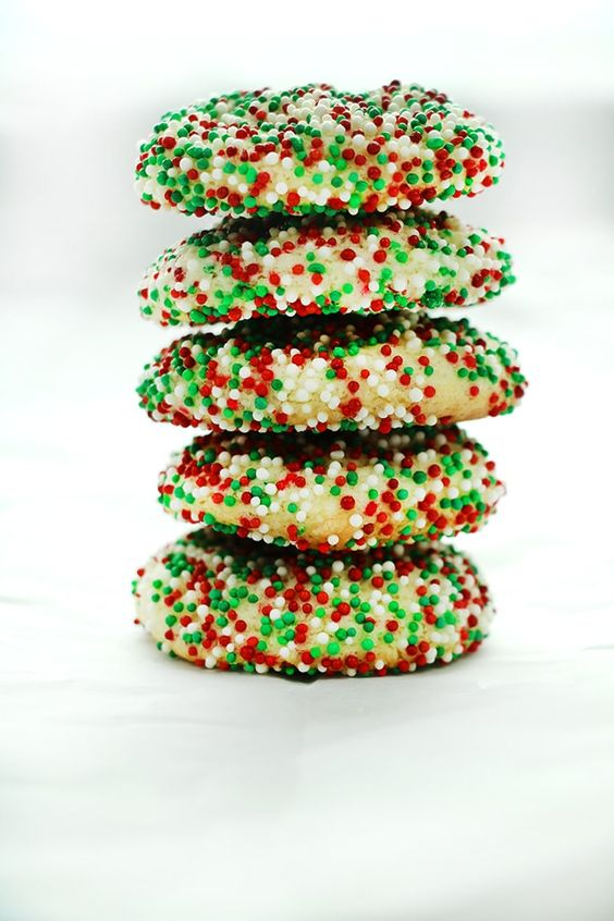 Soft Batch Christmas Sprinkle Cookies are a super easy holiday sugar cookie – no rolling the dough required! Packed with red and green sprinkles, perfect for the holidays! Come follow me right HERE on Pinterest for more delicious food! You guys.  It's Christmas cookie season!  My favorite season of all. Ever. It doesn't matter what...Read More »