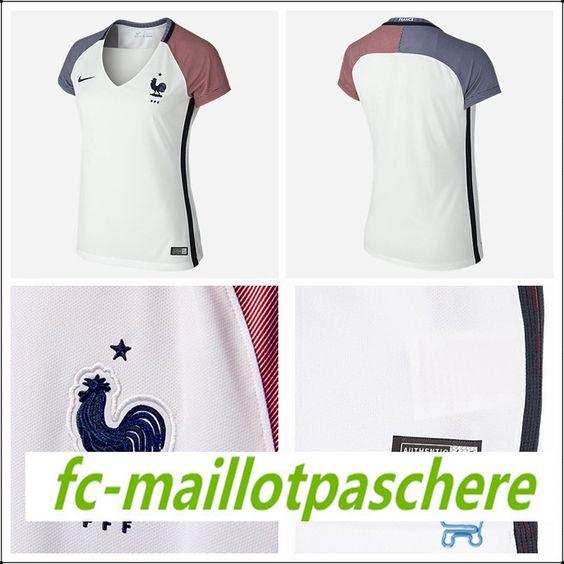 Le nouveau maillot de foot femme France exterieur Euro 2016 moins cher