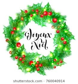 Joyeux Noel French Merry Christmas Holiday Hand Drawn Quote Calligraphy Greeting Car Merry Christmas Card Greetings Merry Christmas Greetings Christmas Vectors