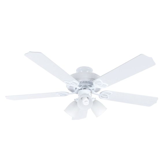 Hampton Bay Brookhurst 52 In White Ceiling Fan Fans
