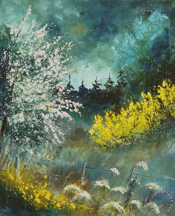 Spring Painting by Pol Ledent