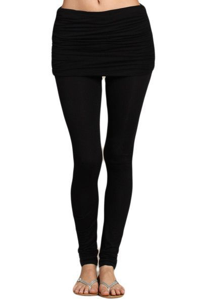 Womens Skinny Leg Stretch Wide Band Leggings Tights Yoga Pants ...
