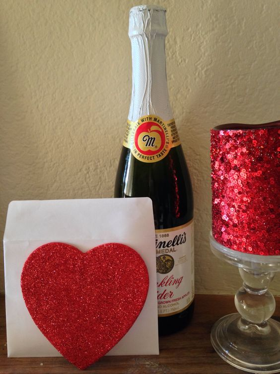 """Scavenger Hunt for my Husband. Started with an envelope at the door that said """"Follow Your Heart"""" and little hearts on the floor led him to his next clue."""