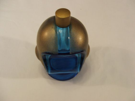 Avon Cologne Bottle Football Helmut Blue and Gold from the 1960's