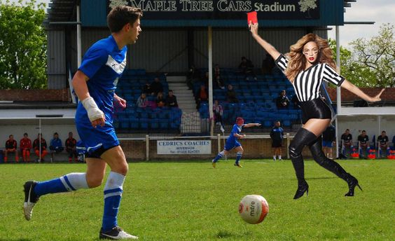 Wivenhoe Town pleased with newly appointed referee Beyoncé for next season  www.facebook.com/katie.perchanski @WivenhoeWatcher