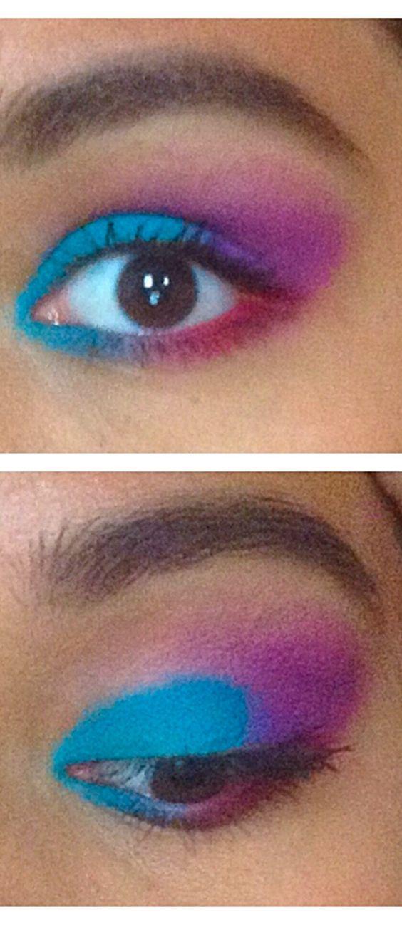 This one reminds me of #thelittlemermaid ...  #mascara #makeup #eyemakeup #aqua #purple #red #rasberry #disney #ariel #pretty #eyeshadow #bhcosmetics
