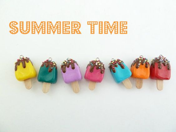 Summer necklace  Popsicle Necklace Polymer Clay fake by shimrita, $15.99