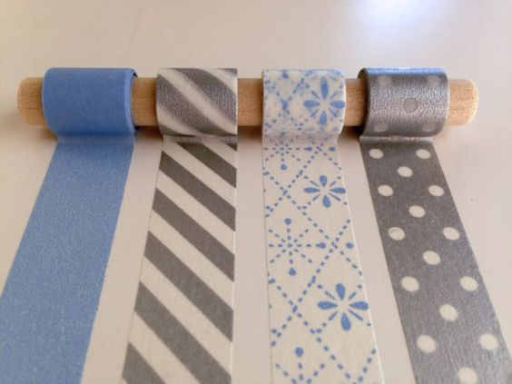 Frosty Holiday Washi Tape Set - silvers and light blues make for a cool & bright holiday season! All U.S. Orders enjoy free shipping!
